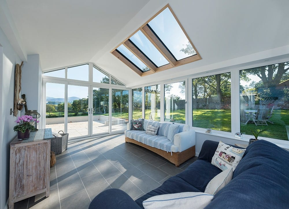 WARMroof Interior with Large Skylights