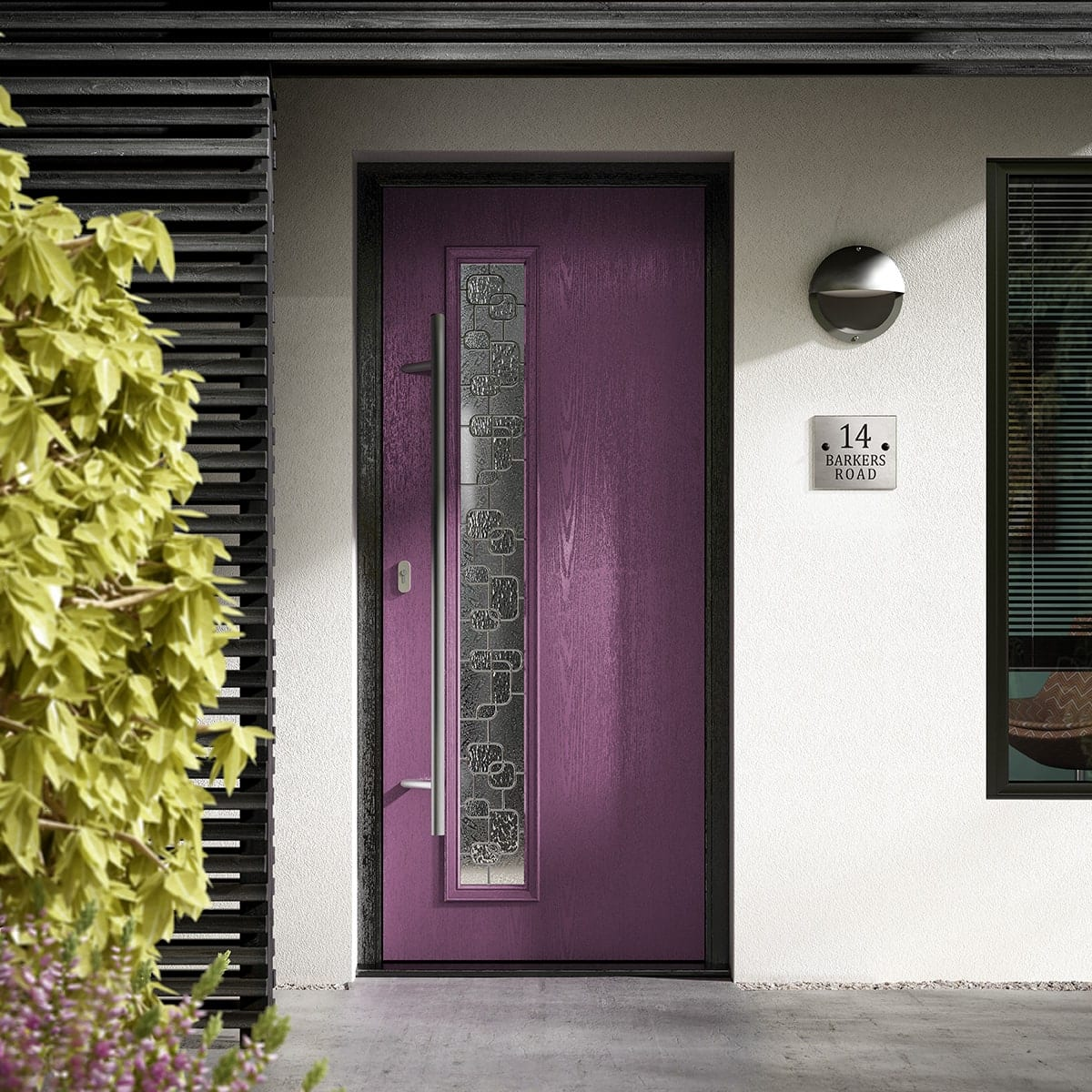 Vibrant Purple Composite Door