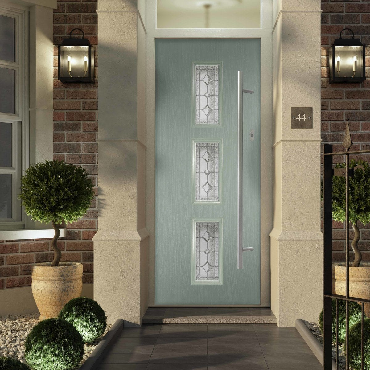 Light Blue Contemporary Composite Door