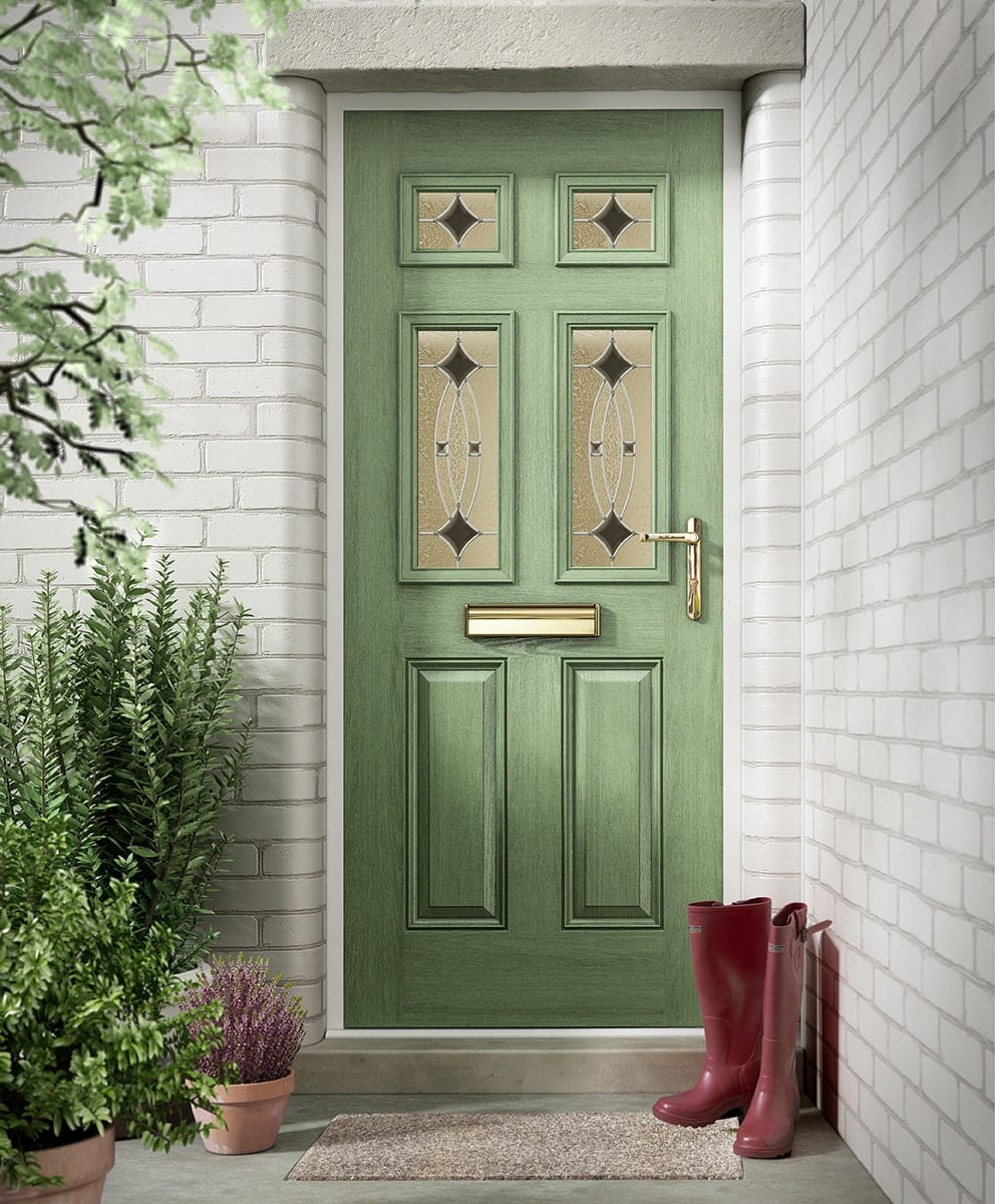 Green Classical Composite Door