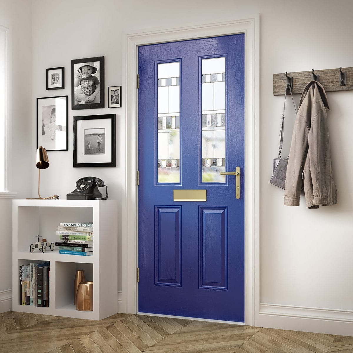 Royal Blue Composite Door