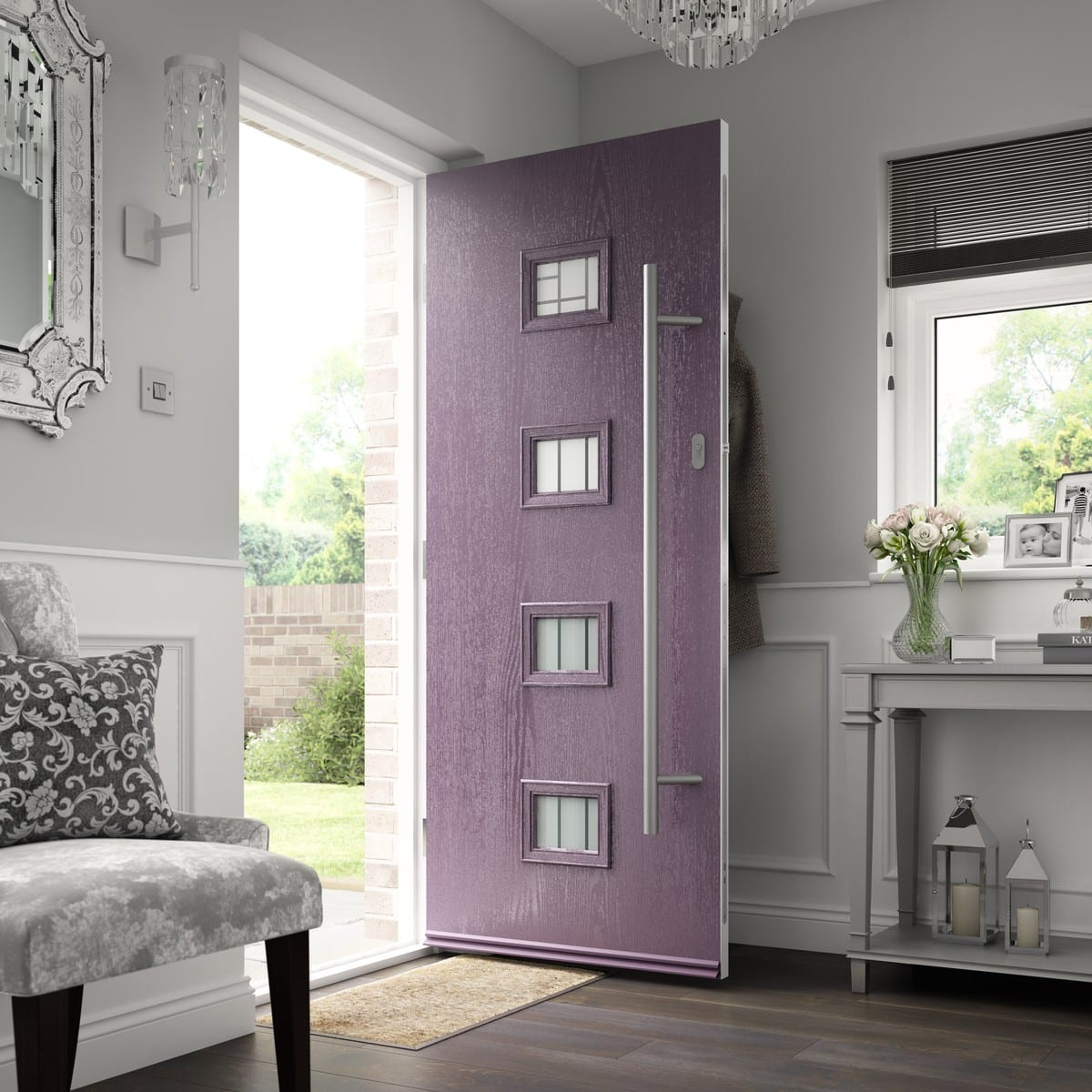 Purple Composite Door