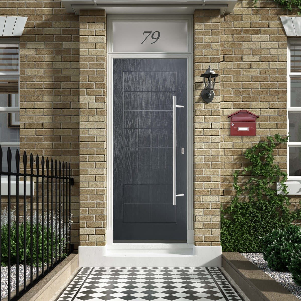 Grey Distinction Composite Door