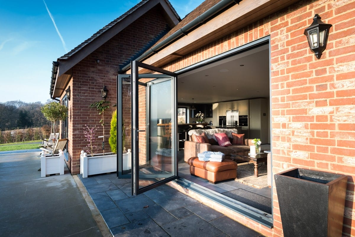Bi-Fold Doors in Anthracite Grey