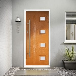 Orange Composite Door