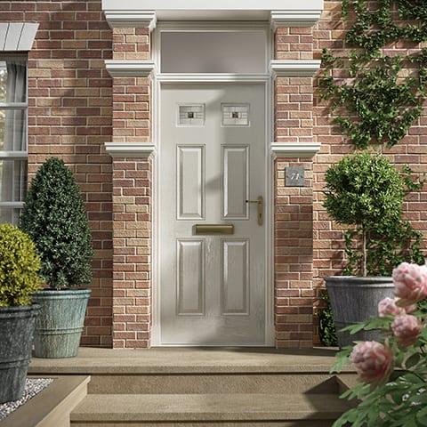 Classic White Composite Door
