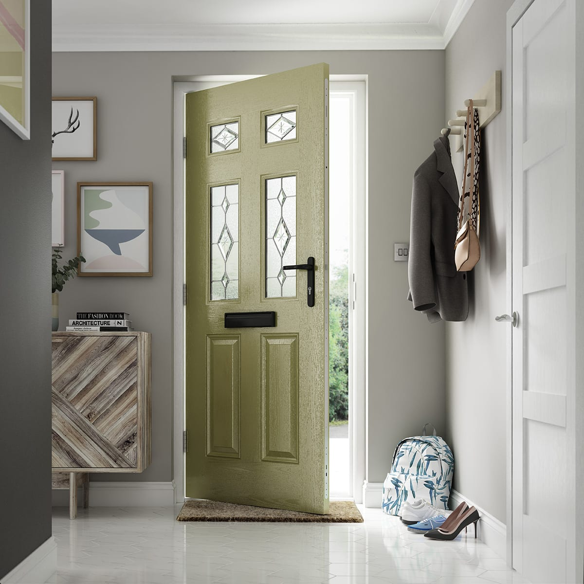 Olive Yellow Composite Door