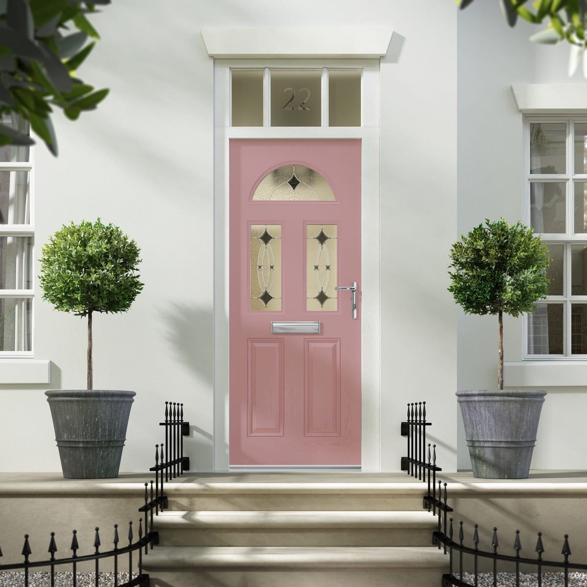Lunna Pale Red Composite Door