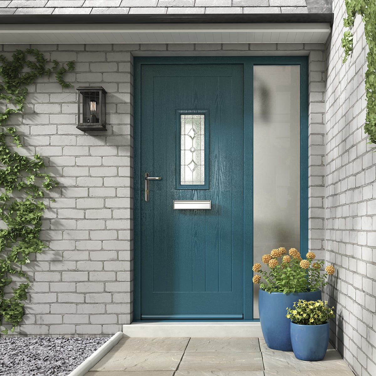 Rustic Azure Blue Composite Door