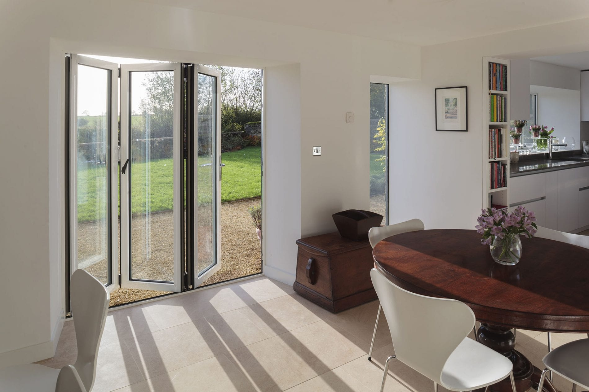 Gloss White Bi Fold Doors