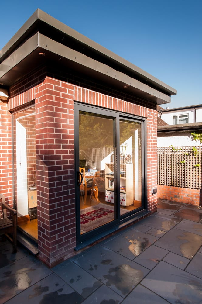 Aluminium Sliding Patio Doors on Red Brick