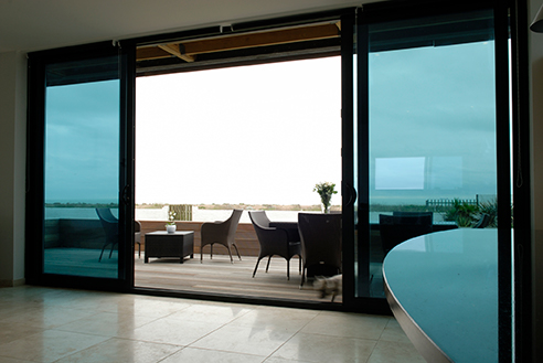 Aluminium Sliding Doors onto balcony