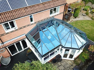 Large P shaped conservatory