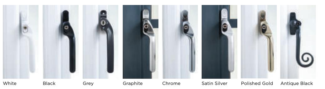 Aluminium Window Handles Examples